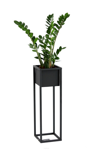 Loft flower stand metal plant stand CUBO 70cm black loft box