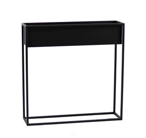 Metal flower stand CUBO 80x80cm black loft box small 1