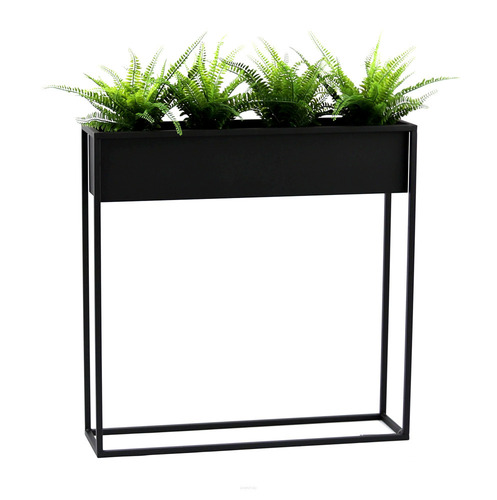 Metal flower stand CUBO 80x80cm black loft box