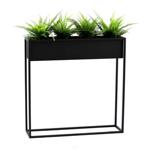 Metal flower stand CUBO 80x80cm black loft box small 0