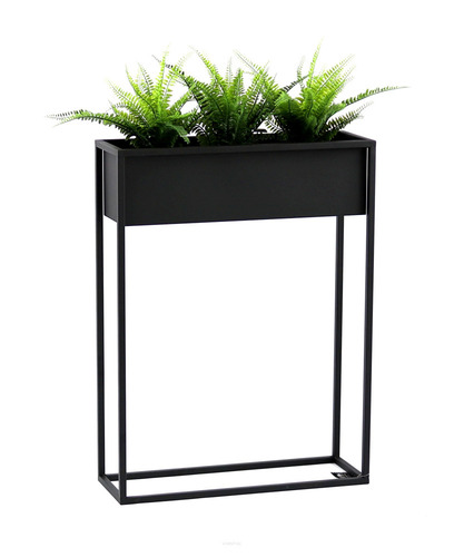 Metal flower stand CUBO 80x60cm black loft box