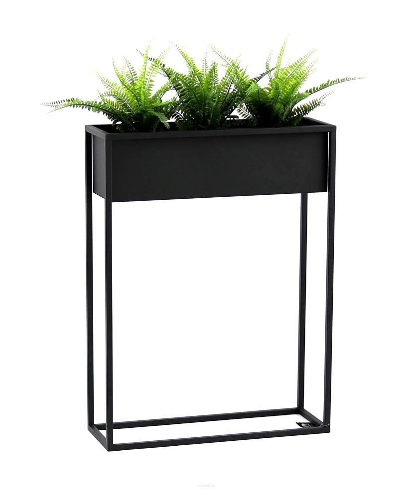 Metal flower stand CUBO 80x60cm black loft box