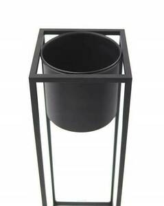 Metal flower stand with a pot for plants UGO 60cm black loft small 6
