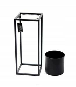 Metal flower stand with a pot for plants UGO 60cm black loft small 7