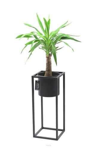 Metal flower stand with a pot for plants UGO 60cm black loft