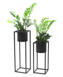 Metal flower stand with a pot for plants UGO 60cm black loft small 4