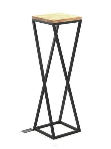 Flowerbed Metal stand wood for plants TAVOLO 80cm black loft