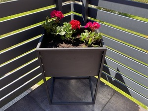 Outdoor flowerbed, stand for plants CUBO 60x40x30cm black LOFT box small 2