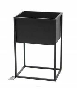 Outdoor flowerbed, stand for plants CUBO 60x40x30cm black LOFT box small 1
