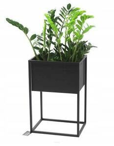 Outdoor flowerbed, stand for plants CUBO 60x40x30cm black LOFT box small 0