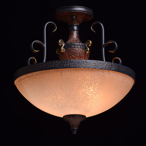 Pendant lamp Bologna Country 3 Brown - 254011903 small 1