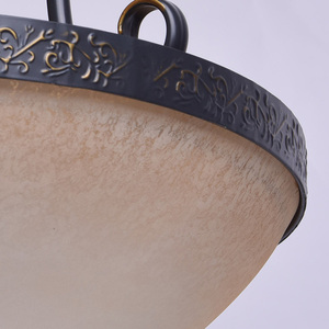 Pendant lamp Bologna Country 3 Brown - 254011903 small 3