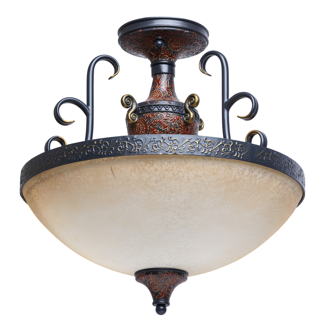 Pendant lamp Bologna Country 3 Brown - 254011903