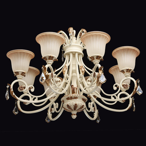 Bologna Country 8 Beige Chandelier - 254013808 small 1