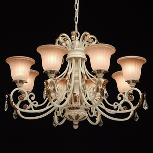 Bologna Country 8 Beige Chandelier - 254013808 small 2