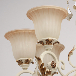 Bologna Country 8 Beige Chandelier - 254013808 small 3