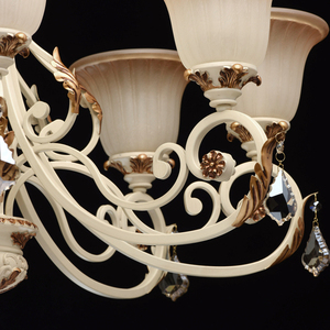 Bologna Country 8 Beige Chandelier - 254013808 small 6