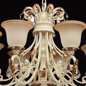 Bologna Country 8 Beige Chandelier - 254013808 small 9