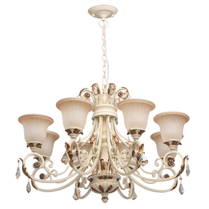 Bologna Country 8 Beige Chandelier - 254013808 small 0