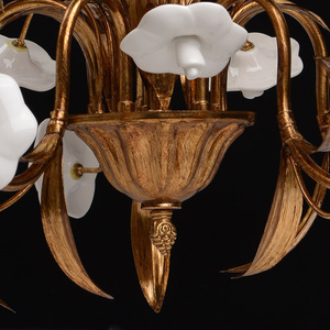 Chandelier Sicily Flora 5 Brass - 282010605 small 8