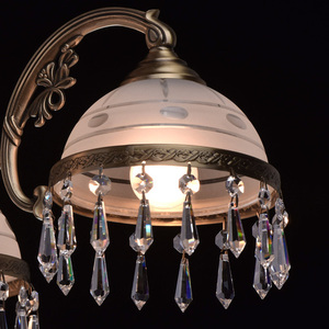 Hanging lamp Amanda Classic 3 Brass - 295016303 small 4