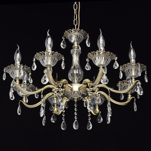 Candle Classic 8 Chandelier Brass - 301014908 small 1