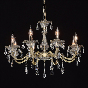 Candle Classic 8 Chandelier Brass - 301014908 small 2