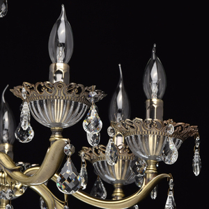 Candle Classic 8 Chandelier Brass - 301014908 small 3