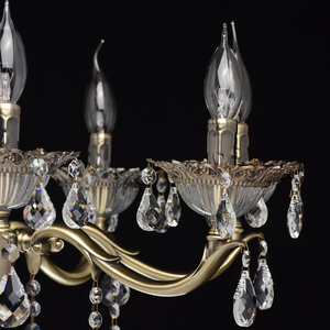 Candle Classic 8 Chandelier Brass - 301014908 small 6