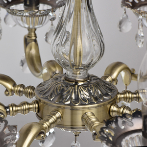 Candle Classic 8 Chandelier Brass - 301014908 small 9