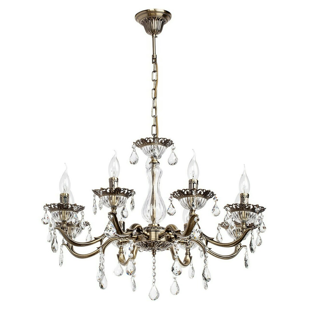 Candle Classic 8 Chandelier Brass - 301014908