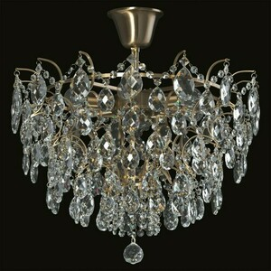 Hanging lamp Isabella Crystal 6 Brass - 351015806 small 1
