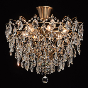 Hanging lamp Isabella Crystal 6 Brass - 351015806 small 2