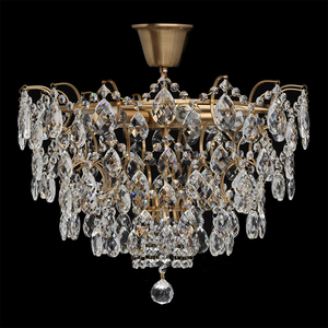 Hanging lamp Isabella Crystal 6 Brass - 351015806 small 3