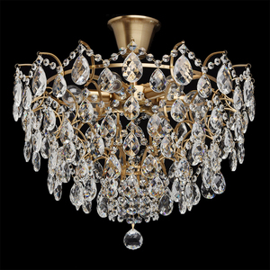 Hanging lamp Isabella Crystal 6 Brass - 351015806 small 4