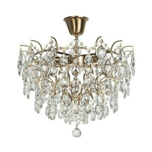 Hanging lamp Isabella Crystal 6 Brass - 351015806 small 0