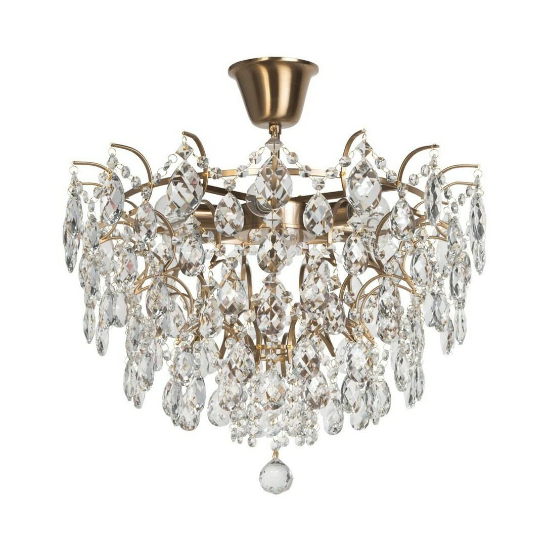 Hanging lamp Isabella Crystal 6 Brass - 351015806