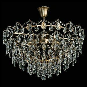 Hanging lamp Isabella Crystal 8 Brass - 351016408 small 1