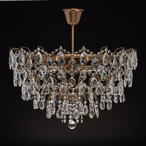 Hanging lamp Isabella Crystal 8 Brass - 351016408 small 3