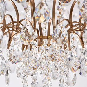 Hanging lamp Isabella Crystal 8 Brass - 351016408 small 10
