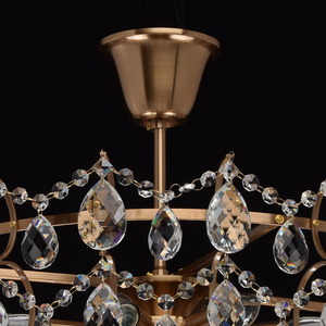 Hanging lamp Isabella Crystal 8 Brass - 351016408 small 12