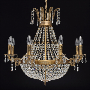 Isabella Crystal 11 Chandelier Brass - 351016511 small 1