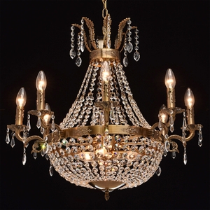 Isabella Crystal 11 Chandelier Brass - 351016511 small 2