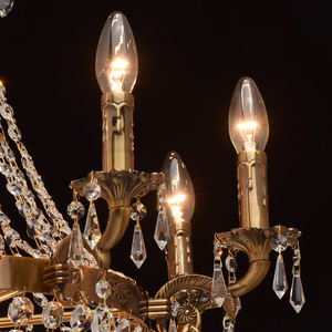 Isabella Crystal 11 Chandelier Brass - 351016511 small 4