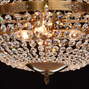 Isabella Crystal 11 Chandelier Brass - 351016511 small 5
