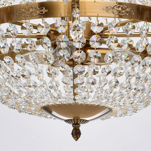 Isabella Crystal 11 Chandelier Brass - 351016511 small 6