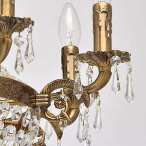Isabella Crystal 11 Chandelier Brass - 351016511 small 8