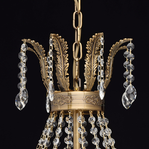 Isabella Crystal 11 Chandelier Brass - 351016511 small 9