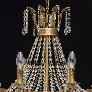 Isabella Crystal 11 Chandelier Brass - 351016511 small 10