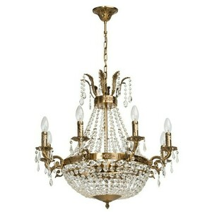 Isabella Crystal 11 Chandelier Brass - 351016511 small 0